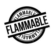 Flammable rubber stamp Stock Images