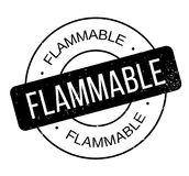 Flammable rubber stamp Stock Photos