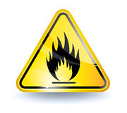 Flammable sign Stock Photography