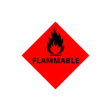 Flammable sign icon Stock Photo