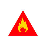 Flammable sign icon Royalty Free Stock Photography