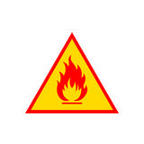 Flammable sign icon Royalty Free Stock Image