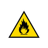 Flammable sign icon Stock Image