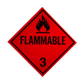 Flammable sign. Isolated on white with clipping path at original size Stock Image