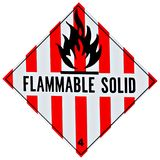 Flammable Solid Sign Stock Image