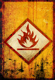Flammable symbol. On a grunge background Royalty Free Stock Photo