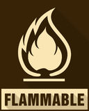 Flammable Symbol. Fire Icon. Packaging Symbol for Delivery of Ca Royalty Free Stock Image