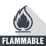 Flammable Symbol. Fire Icon. Packaging Symbol for Delivery of Ca Royalty Free Stock Photos