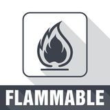 Flammable Symbol. Fire Icon. Packaging Symbol for Delivery of Ca Royalty Free Stock Photography