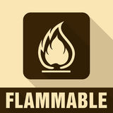 Flammable Symbol. Fire Icon. Packaging Symbol for Delivery of Ca Royalty Free Stock Photo