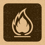 Flammable Symbol. Fire Icon. Packaging Symbol for Delivery of Ca Stock Photography