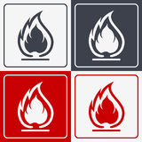 Flammable Symbol. Fire Icon. Packaging Symbol for Delivery of Ca Stock Image