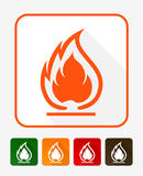 Flammable Symbol. Fire Icon. Packaging Symbol for Delivery of Ca Stock Images