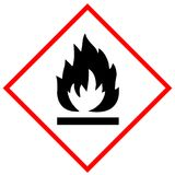 Flammable symbolu znak Obraz Royalty Free