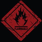 Flammable  warning symbol Stock Photography