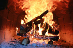Flammabrand i ugnen Royaltyfri Fotografi