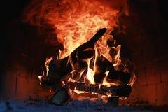 Flammabrand i ugnen Royaltyfria Foton