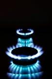 flammagaskök Fotografering för Bildbyråer