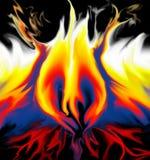 flammahjärta royaltyfria bilder