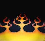 flammajobbmålarfärg Royaltyfri Foto