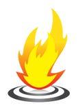 flammalogo vektor illustrationer