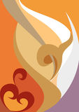flammamodell royaltyfri illustrationer