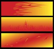 Flammande baner Arkivfoton