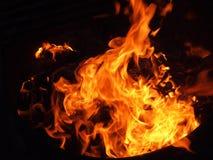 flammande brand royaltyfri bild