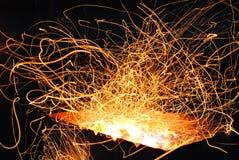 Flammande brand Arkivbild