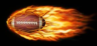 Flammande fotboll Royaltyfria Bilder