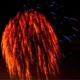 Flammande fyrverkerier Fotografering för Bildbyråer