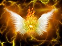 Flammande gud vektor illustrationer