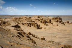 Flammande klippor Mongoliet Arkivbilder