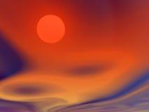 flammande sky stock illustrationer