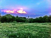 Flammande sky Arkivbilder