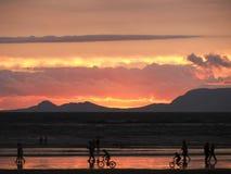Flammande solnedgång Royaltyfri Fotografi