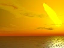 flammande sun Royaltyfria Foton