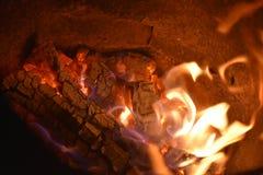 Flammar eller avfyrar royaltyfri foto