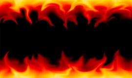 Flammar på svart bakgrund Arkivfoton