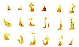 Flammasammanställning arkivfoto