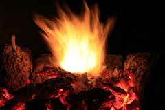 flammastigning Arkivfoto