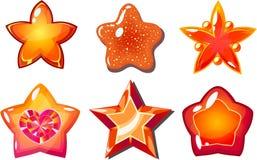 Flammastjärnor royaltyfri illustrationer
