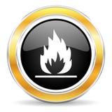 Flammasymbol fotografering för bildbyråer