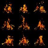 Flammauppsättning royaltyfri bild