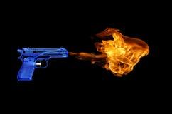 Flammavapen fotografering för bildbyråer