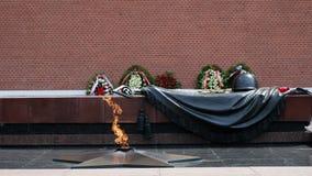Flamme éternelle à la tombe commémorative du soldat inconnu de la deuxième guerre mondiale Plan rapproché commémoratif, victoire  clips vidéos