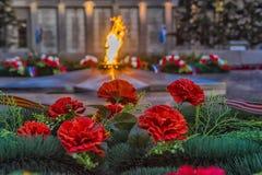 Flamme éternelle commémorative d'Irkoutsk Photographie stock libre de droits