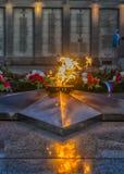 Flamme éternelle commémorative d'Irkoutsk Photographie stock