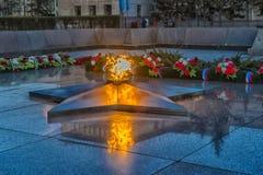 Flamme éternelle commémorative d'Irkoutsk Images stock
