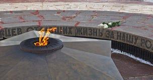 Flamme éternelle complexe commémorative à Tambov photographie stock